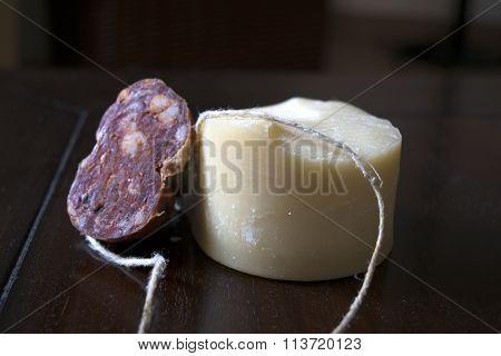 Soppressata And Parmigiano Cheese