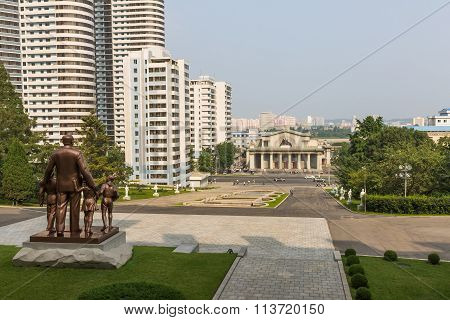View of the city Pyongyang. North Korea