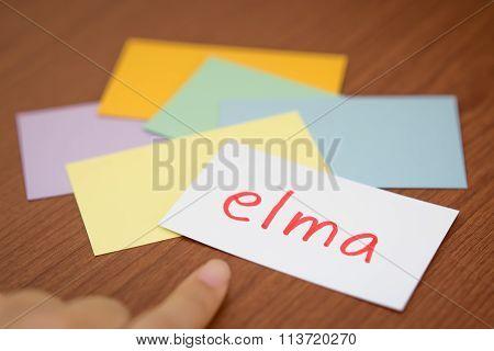 Turkish; Learning New Language With The Flaish Card (translation; Apple)