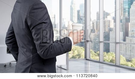 Businessman With Coffee, Break