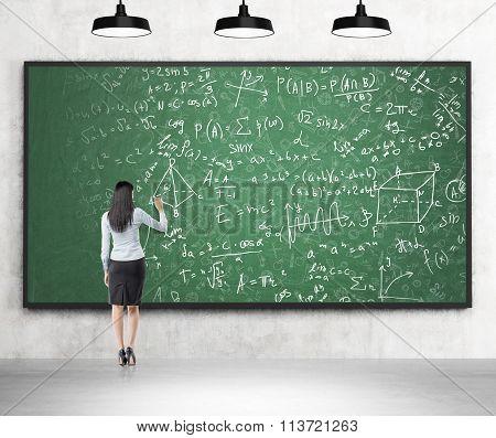 Writing Formulas On The Blackboard