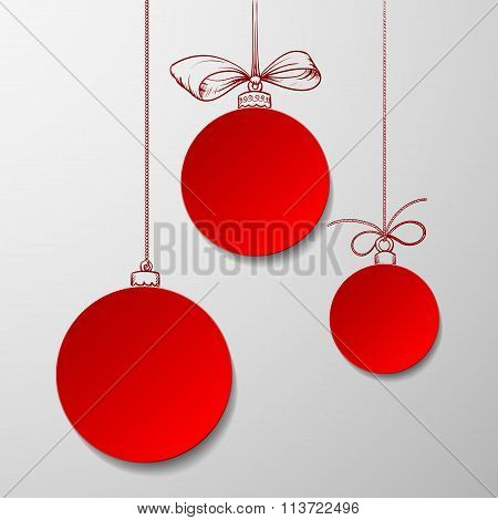 Christmas Balls. Stock Illustration.
