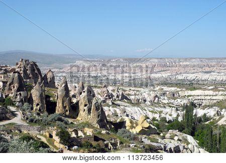 Unusual landscape of Cappadocia.