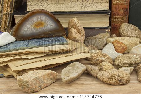 he study of mineralogy. University studies. The science of minerals and rocks