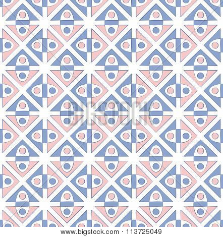 Abstract Cubist Geometric Textile Pattern
