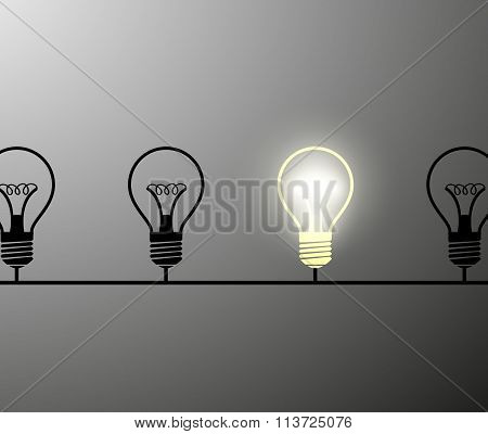 Incandescent Lamps. Stock Illustration.