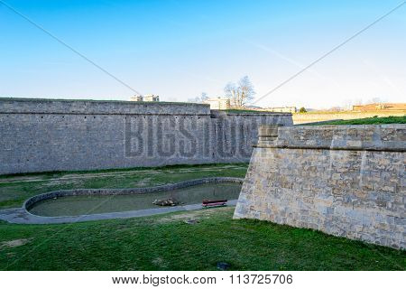 Pond And Walls