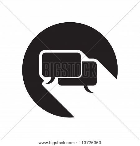Black Icon With Speech Bubbles