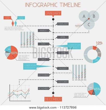 Infographic Timeline - infographic elements set