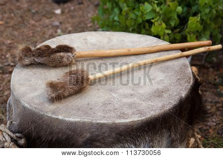 Traditional leather drums