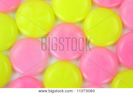 Pink And Yellow Hard Candy