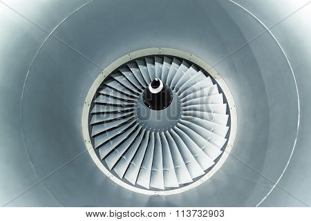 Airplane engine turbine blades.