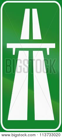 Road Sign Used In Italy - Motorway