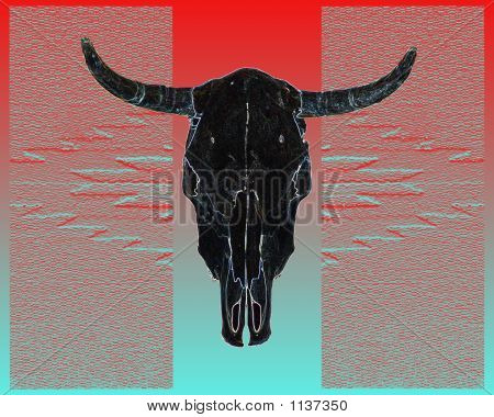 Black Cow Skull