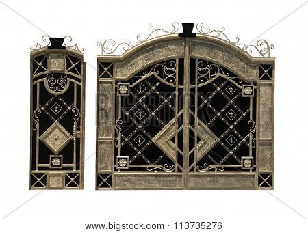 metal gate with a wicket