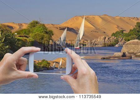 Take A Picture Of Nile Near Aswan
