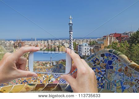 Taking Picture In Barcelona (catalunya)
