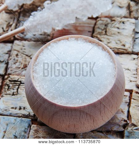 Xylitol On Birch Background