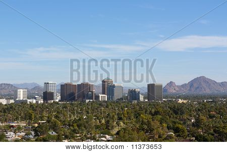 Birds Eye View Of Phoenix Valley, AZ