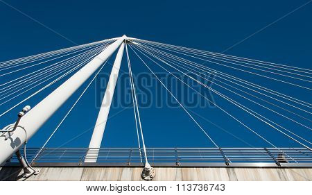 Abstract Details Of A  Modern Bridge Architecture