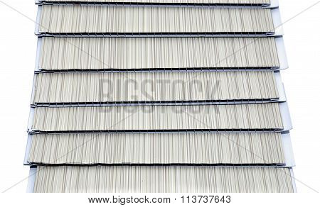 Several Pvc Panels For Wall Decoration Isolated