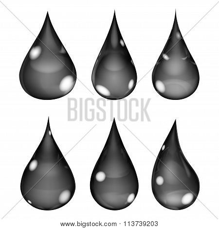 Opaque Black Drops