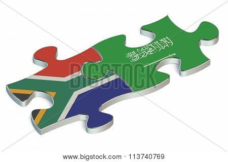 Saudi Arabia And South Africa Puzzles From Flags
