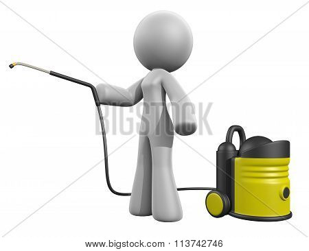 3D Lady Pressure Washer