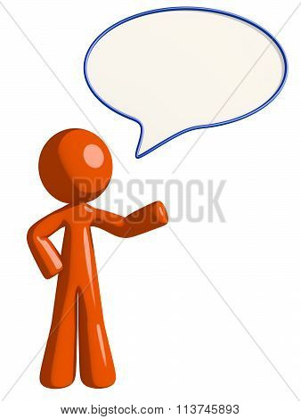 Orange Man Word Bubble