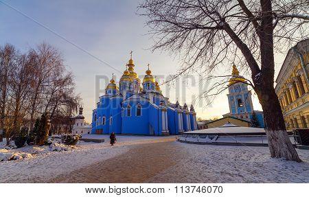 St. Michael;s Golden-domed Monastery - Famous Church In Kyiv, Ukraine