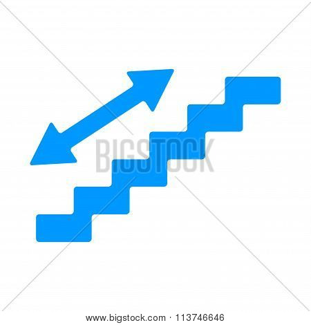 Staircase Symbol. Flat Design Style.