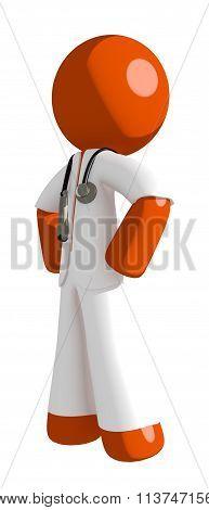 Orange Man Doctor Hero Stance