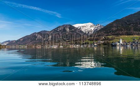 Wolfgang Lake,village,grosser Hollkogel-austria