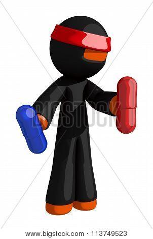 Orange Man Ninja Warrior Enhancement Pills