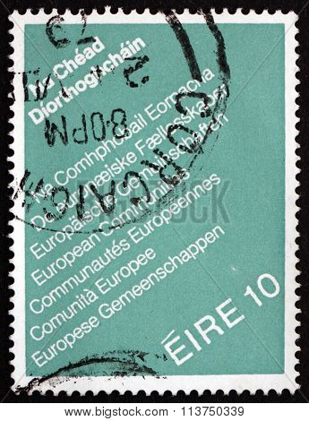 Postage Stamp Ireland 1979 Text European Communities