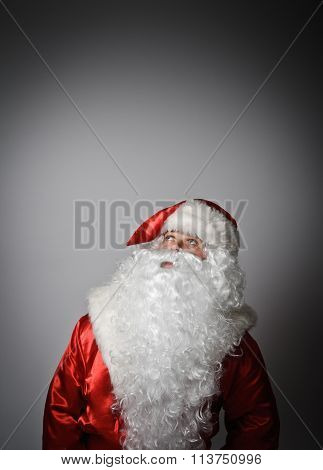 Santa Claus Is Looking Up