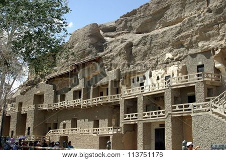 Mogao caves in Dunhuang People's Republic of China