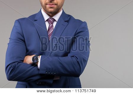 Attractive young businessman has an appointment today