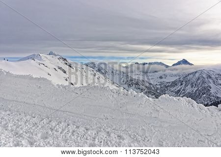 Clouds And Fog In Kasprowy Wierch In Zakopane In Tatra Mounts In Winter