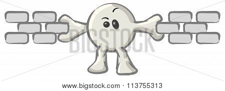 Clipart Illustration Of A White Konkee Character Holding Links Of A Chain Together, Symbolizing Seo
