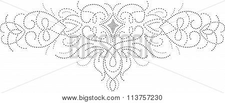 Embroidery Traditional Vector Illustration Design