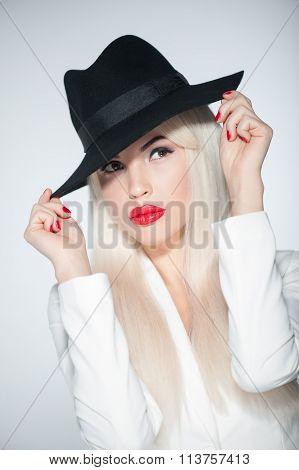 Pretty blond girl had a big secret