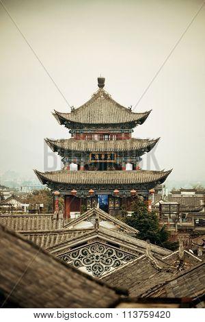 Wuhua House in Dali Old Town in Yunnan, China.