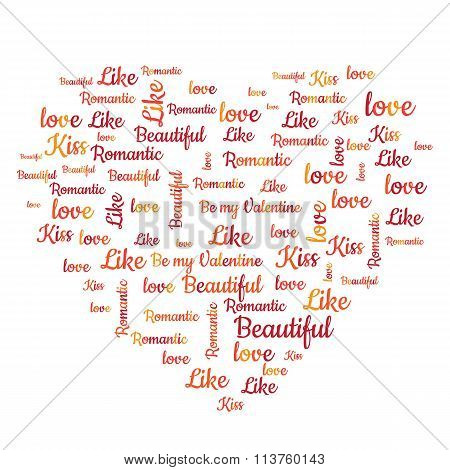 Valentines Day word cloud concept