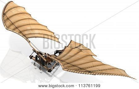 Ornithopter Flying Machine Concept By Leonardo Da Vinci