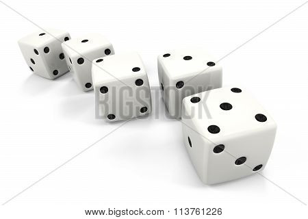 Dice In A Row In The Order Of Fibonacci Sequence