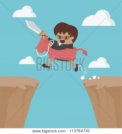 Ride Over The Cliff To Success