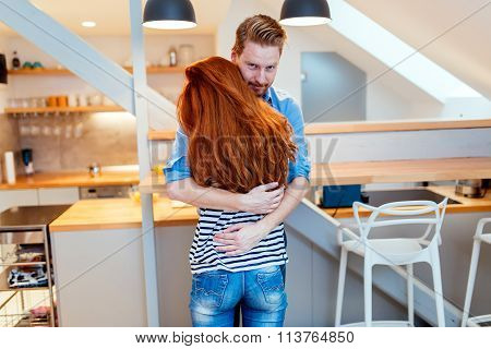 Man Loving Wife At Home