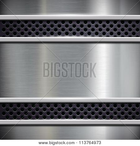 Brushed Metal. Stock Illustration.