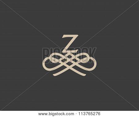 Abstract monogram elegant flower logo icon design. Universal creative premium letter Z initials orna